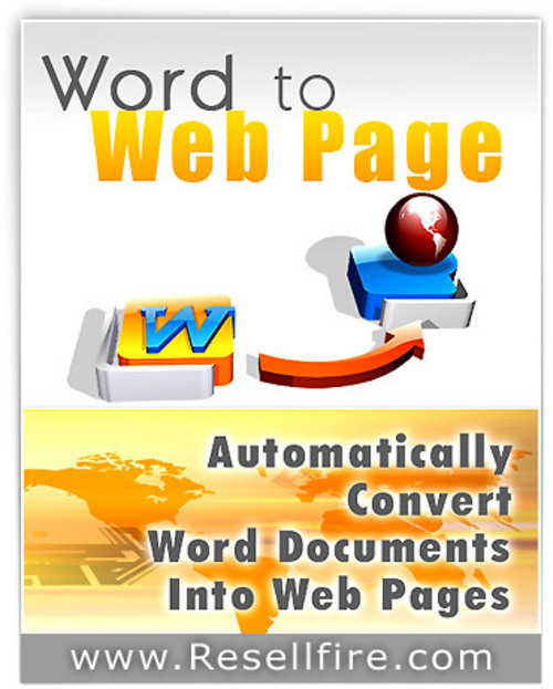 Product picture Convert Word Docs to Webpages Quickly & Easily